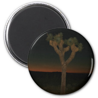 Joshua Tree Sunset 6 Cm Round Magnet