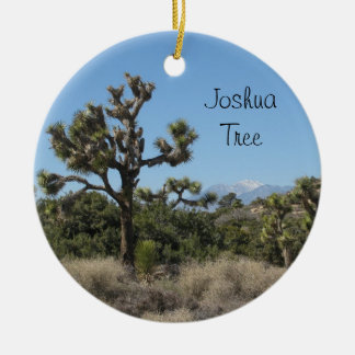 Joshua Tree View Round Ceramic Decoration