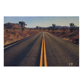 Joshua Tree Wood Canvas by Guido Prussia