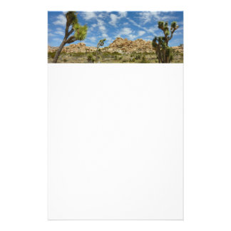 Joshua Trees and Blue Sky Desert Landscape Customized Stationery