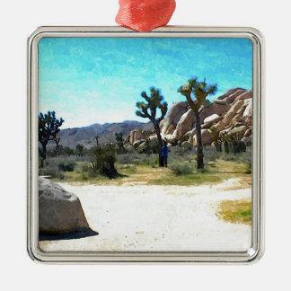 Joshua Trees and Rocks Christmas Ornament