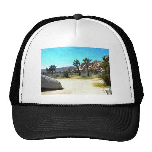Joshua Trees and Rocks Trucker Hats