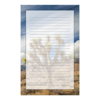 Joshua Trees in Desert Stationery