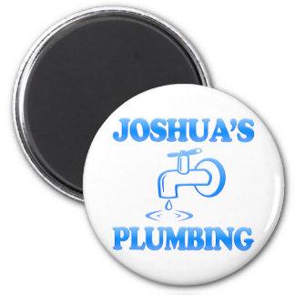 Joshua's Plumbing 6 Cm Round Magnet