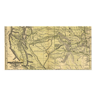 Josiah Gregg's 1844 Map of the Indian Territory Picture Card