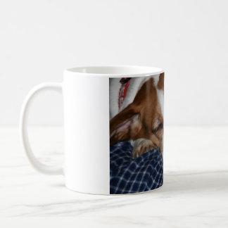 Josie Beagle sleeping mug