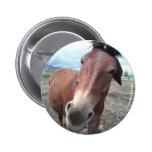 Josie, the funny mule 6 cm round badge
