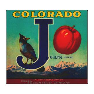 Joslyn Apple Crate Label Canvas Print