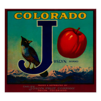 Joslyn Apple Crate Label Poster