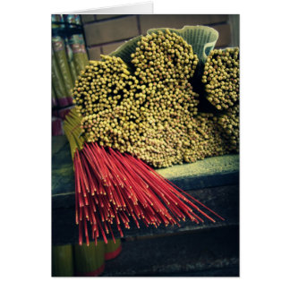 Joss Sticks for Sale Card
