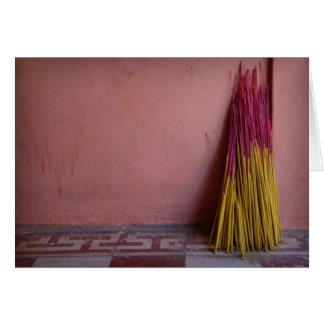 Joss Sticks Greeting Card