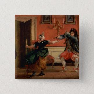 Jourdain Fences his Maid 15 Cm Square Badge