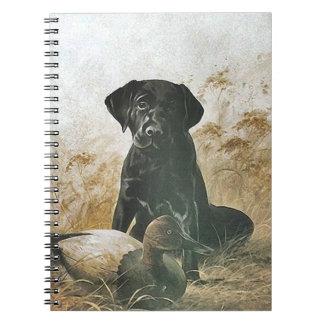Journal Book Vintage Labrador Puppy Bird Dog Decoy