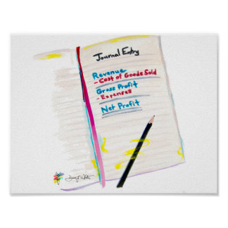 Journal Entry Accounting Art Poster