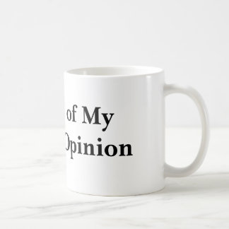 Journal of My Current Opinion Basic White Mug