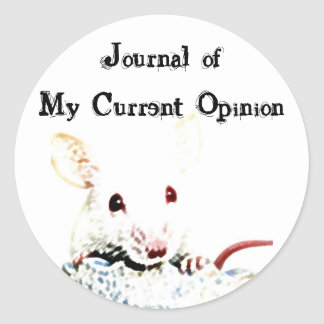 Journal of My Current Opinion Classic Round Sticker