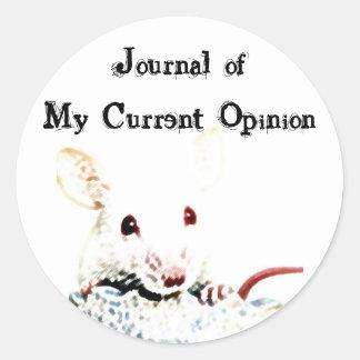 Journal of My Current Opinion Round Sticker