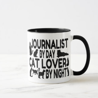 Journalist Cat Lover Mug