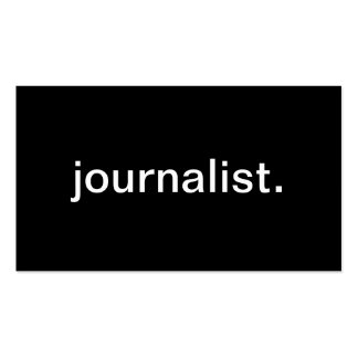 Journalist Pack Of Standard Business Cards