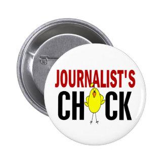 JOURNALIST'S CHICK 6 CM ROUND BADGE