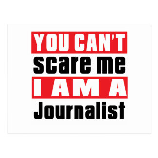 Journalist scare designs postcard