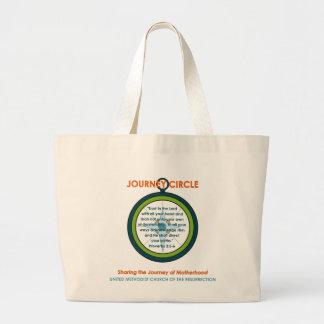 Journey Circle Plain Tote Canvas Bags