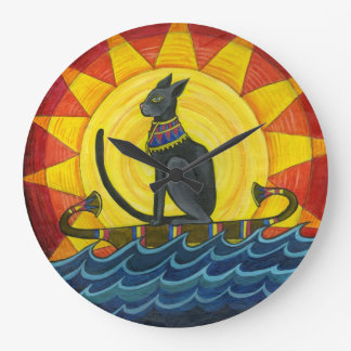 Journey Down the Nile, Egyptian Cat Wall Clock
