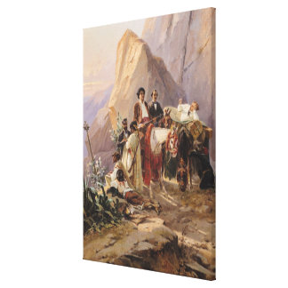 Journey from Paris to Cadiz, 1846 Canvas Print