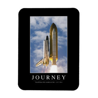 Journey: Inspirational Quote 1 Rectangle Magnet