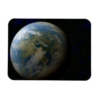 Journey into the depths of outer space: new earth rectangular photo magnet