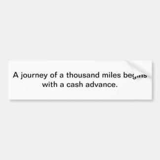 Journey of 1000 miles bumper sticker