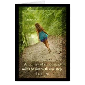 """Journey of a thousand Miles"" Greeting Card"