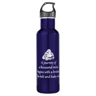 Journey Of A Thousand Miles - Sarcastic Zen Phrase 710 Ml Water Bottle