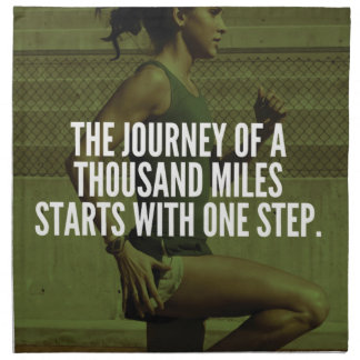 Journey Of A Thousand Miles - Workout Inspiration Napkin
