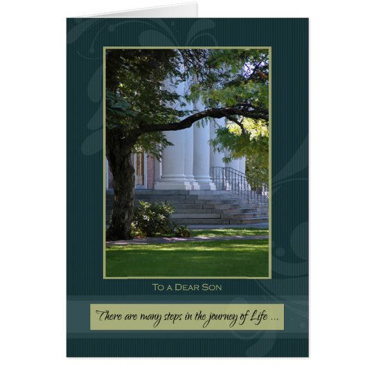 Journey of Life Son Graduation Congratulations Card