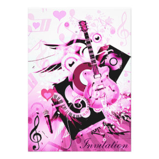 Journey of music-Pink_ Personalized Invite