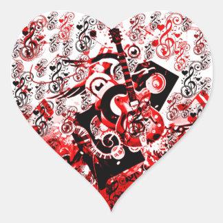 Journey of Music-Red_ Heart Sticker