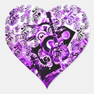 Journey Of Music,Rocks Purple_ Heart Sticker