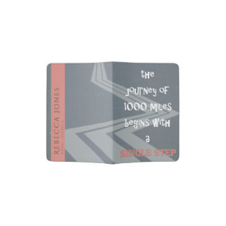 JOURNEY SINGLE STEP LIFE TRAVEL QUOTE MONOGRAM PASSPORT HOLDER
