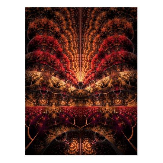 Journey to Infinity fractal artwork Postcard