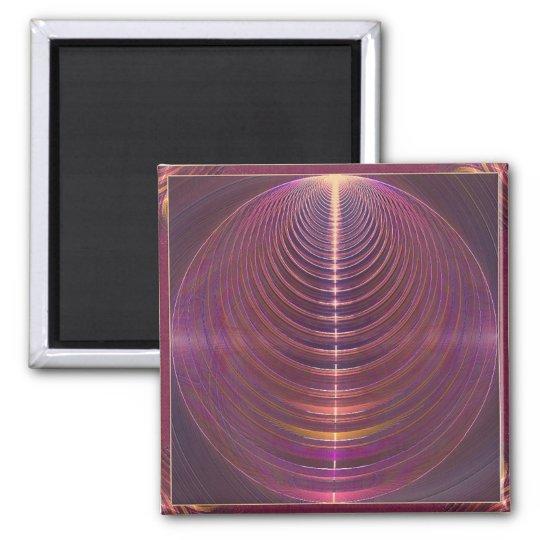 Journey to Soul Mandala Square Magnet