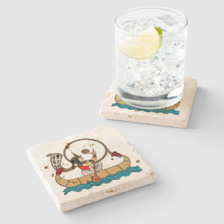 Journey To The Afterlife Stone Coaster