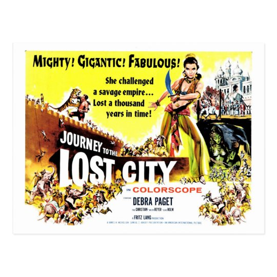 Journey to the Lost City Postcard