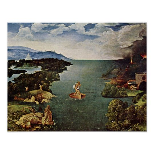 journey to the underworld by Joachim Patinir Poster