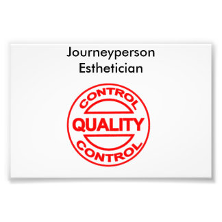 Journeyperson Esthetician poster Photo