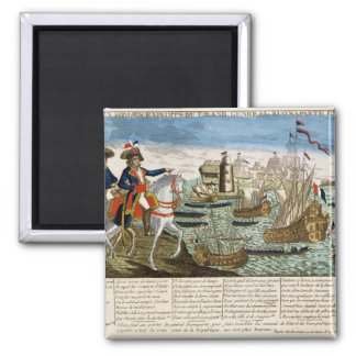 Journeys and Exploits of General Bonaparte  1798 Square Magnet