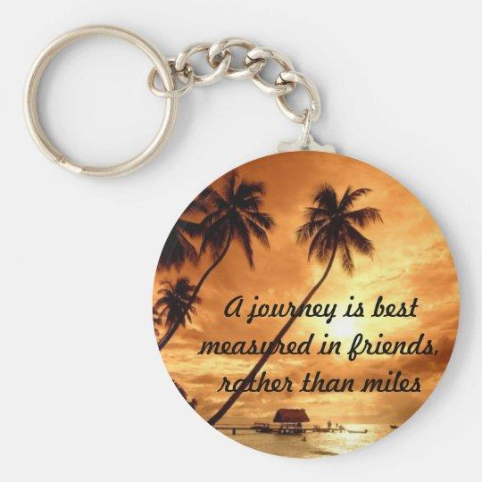 Journeys Basic Round Button Key Ring