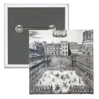 Jousting, 1565 15 cm square badge