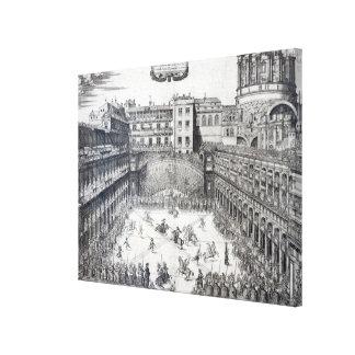 Jousting, 1565 canvas print