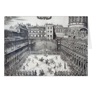 Jousting, 1565 greeting card